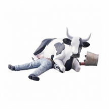 CowParade - Ni Mu / Cow Sitting On Man , Medium