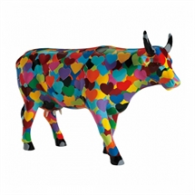 CowParade - Heartstanding Cow, Large