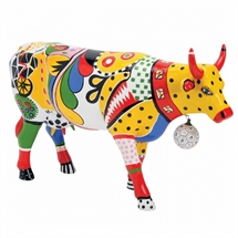 CowParade - Kick Cow, Large