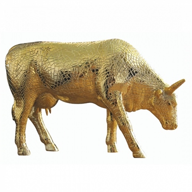 CowParade - Mira Moo Gold, Large