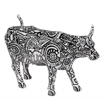 CowParade - Machine Cow, Large
